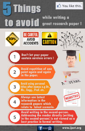 Things to avoid while writing paper